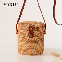 Bohemia Ratatan Handbag For Women Bag Straw Nurse Bag Vintage Hobo With Bow Woven Babi Rattan Bag Women Mini Shoulder Bag Straw