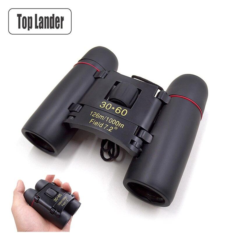 Binoculares plegables 30X60 Zoom profesional visión nocturna de día binoculares de alta potencia binoculares de bolsillo para viajes de caza
