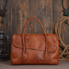 New Original Design cowhide leather Designer Inspired Female Tote Shoulder Bags Hand-dimensional Solid Real Handmade Handbags