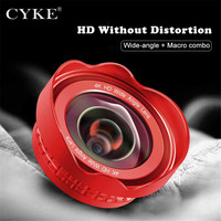 CYKE Professional 16mm Super 4K Wide Angle Cell Phone Lens HD No Distortion Camera Lenses For
