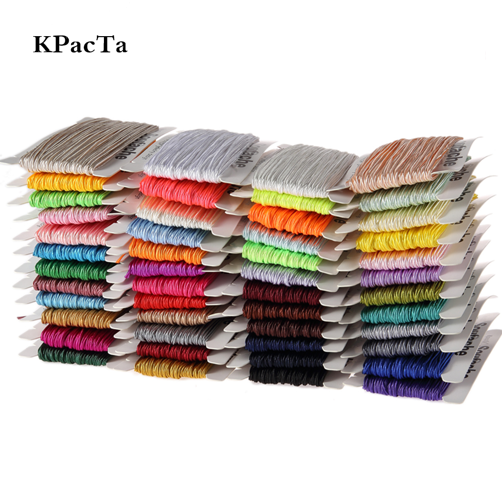 Kpacta Nylon Cord Braided-Material Jewelry Handmade Knot DIY Soutach-Colors Chinese 34-Yard