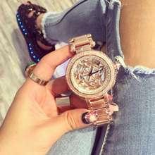 Luxury Brand Дамы Кварцевые Часы Полный Rhinostone Игристые Сияющий Женщины Кристаллы Наручные Часы Montre Роковой Relógio Feminino OP001