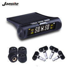 Jansite Car TPMS Tire Pressure Monitoring System Auto Alarm System Wireless With 4 Sensor Solar Charging HD Digital LCD Display(China)
