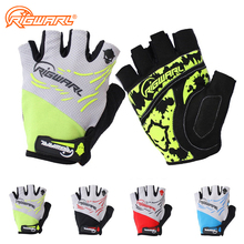 RIGWARL Men MTB Breathable Cycling Gloves Half Finger Anti-skidding Gloves Summer Bike Gloves Polyester Washable Sports Luvas