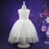Flower Lace Children Girls Elegant Ceremonies Wedding Birthday Dresses Teenagers Prom Gowns Party Wear Kids Dress