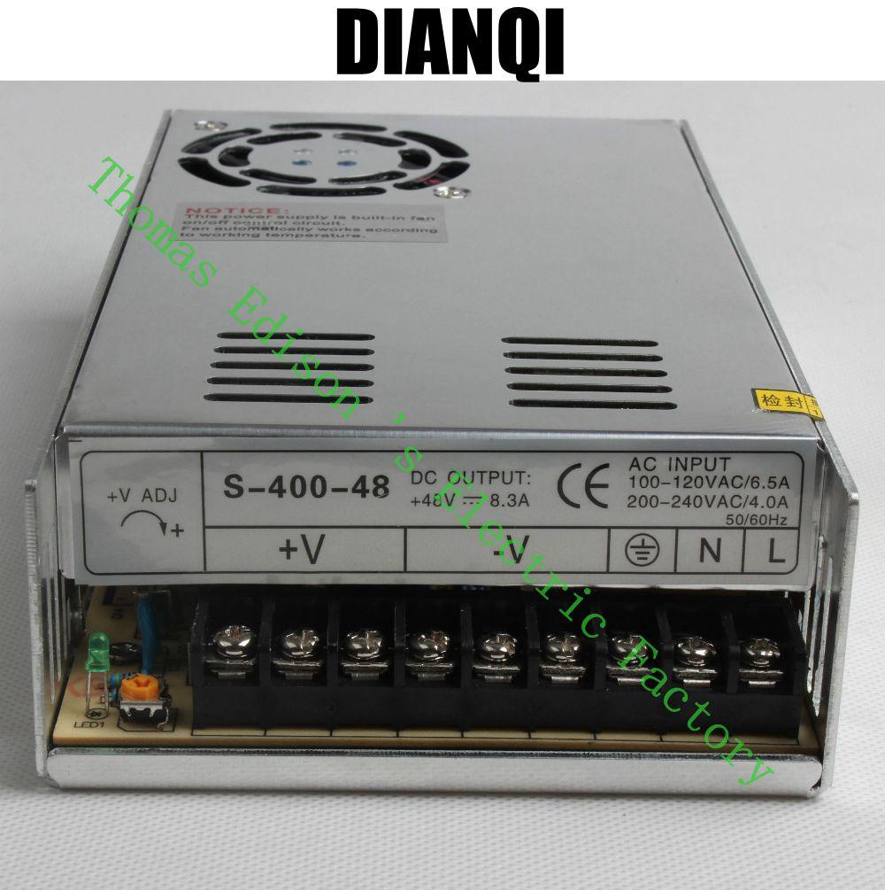 DIANQI High Quality Power Supply 48V 400W AC to DC Power Supply AC DC Converter S-400-48 led power supply 48v 201w ac to dc switching power supply ac dc converter high quality s 201 48v free shipping