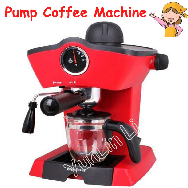 Household Italian Pump Coffee Machine Semi-Automatic Pressure Steam Cappuccino Coffee Maker Coffee Pot CM-4656 crm2008 semi automatic steam pump grinding coffee maker