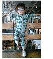 2017 primavera otoño niños sudaderas + pantalones crocodile 2 unids ropa conjuntos de bebé ropa de bebé ropa de niños ropa kikikids