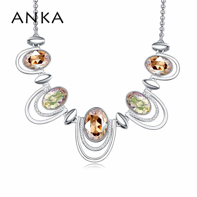 ANKA new arrival cristal gargantilhas colares estilo africano traje moda jóias para as mulheres Cristais de Áustria #108108