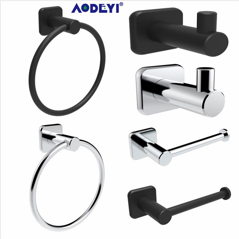 Buy bathroom hardware set chrome black - Black and chrome bathroom accessories ...