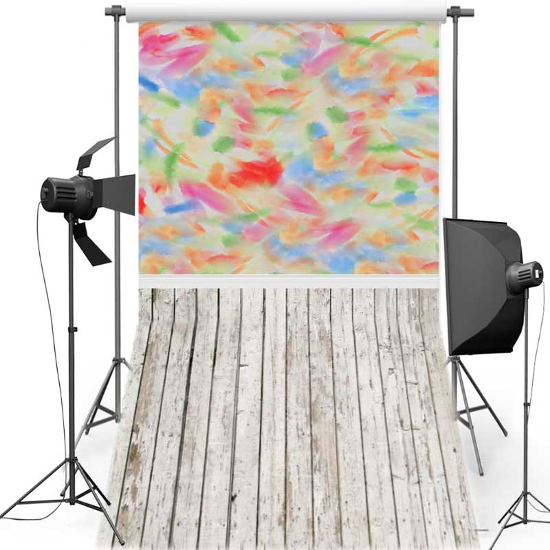 MEHOFOTO Colorful Wall New Fabric Flannel Photography Background For Newborn Vinyl Backdrop For Children photo studio F568 in Background from Consumer Electronics