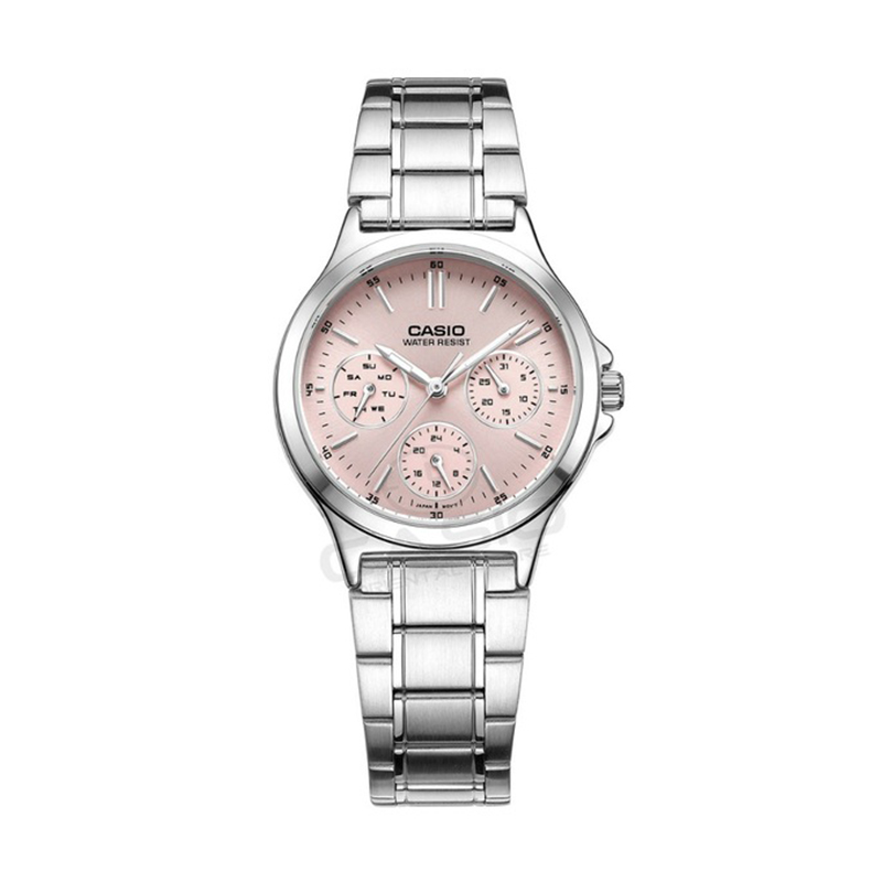 Casio Brand High quality Quartz-watches Stainless Steel Wristwatches Fashion Women Watch Ladies Wrist casual watch LTP-V300L-4A casio ltp 2069l 4a
