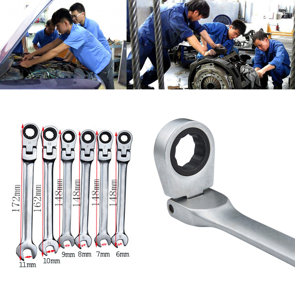 40^Ratchet Spanner Combination Wrench Set of keys ratchet skate tool ring wrench ratchet set flexible Hand Tools