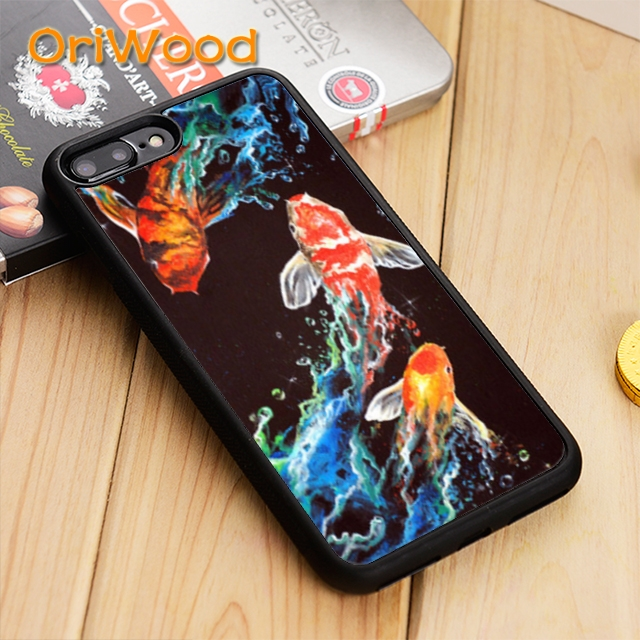 Independent Oriwood Koi Carp Fish Case Cover For Iphone 5 5s Se 6 6s 7 8 X Xr Xs Max Samsung Galaxy S5 S6 S7 Edge S8 S9 Plus To Win Warm Praise From Customers Cellphones & Telecommunications