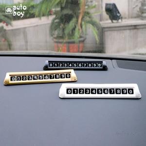 Image 1 - مواقف عدد لوحة مؤقت بطاقة ركن السيارة اكسسوارات السيارات ل بولو لسكودا اوكتافيا Tour وقوف السيارات لوحة لمازدا 6 GJ