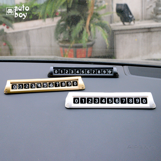 Acessórios Do Carro Número Da Placa Do Carro de estacionamento Cartão de Estacionamento Temporário Para Placa De Estacionamento Para Mazda 6 Polo Para Skoda Octavia Turnê GJ