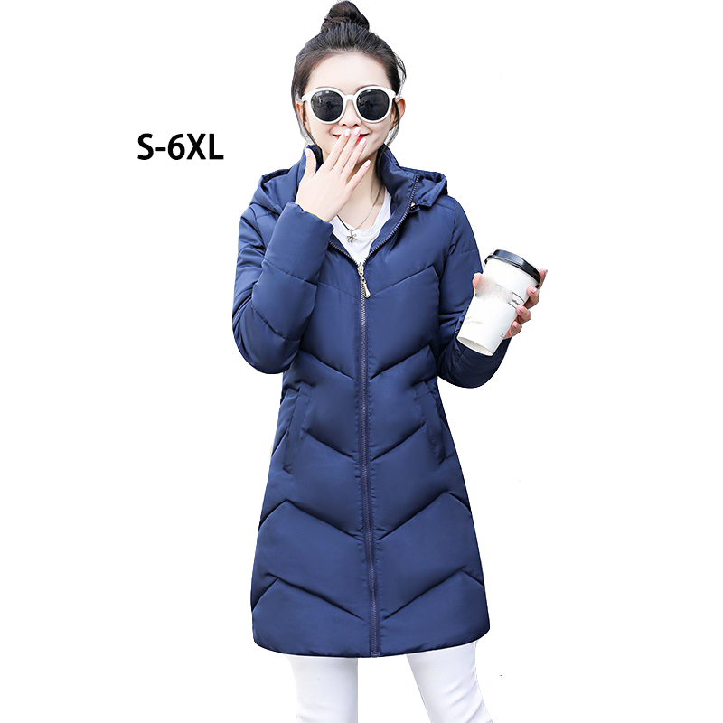 Black Winter Jackets Womens Long Thick Warm   Parka   Coat Female Fashion Slim Hoodies Cotton Padded 2019 New Down Jacket for Women