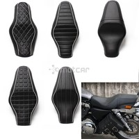 1pcs Motorcycle Seat Cushions Black Driver+Rear Passenger Seat for Harley Sportster 883 Iron XL1200 Black New