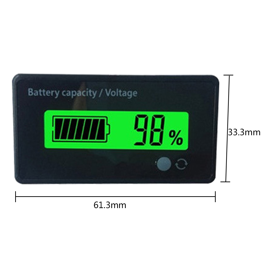 1pc Lithium Battery Capacity Indicator Voltage Tester Power Meter LCD Digital Voltmeter for 12V/24V/36V/48V Acid Lead 1 2v to 12v li ion lithium battery capacity tester resistance lead acid battery capacity meter protection voltage ammeter yx