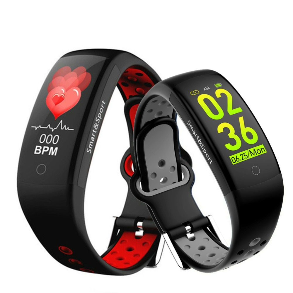 Q6S <font><b>Smartwatch</b></font> Fitness Smart Armband Q6S Herz Rate Blutdruck Monitor Stoppuhr <font><b>IP68</b></font> Sport <font><b>Smartwatch</b></font> Für Android IOS image