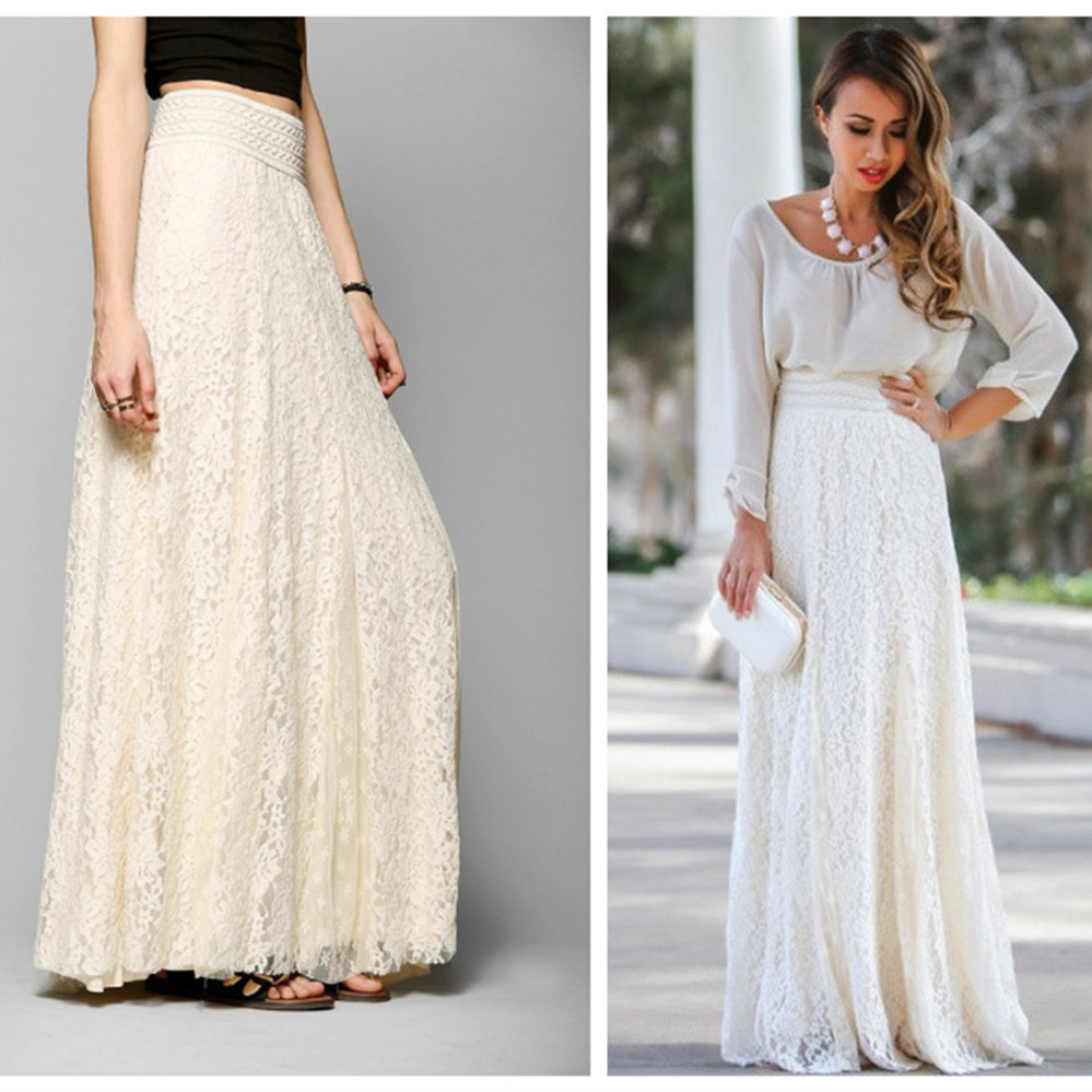 Online Buy Wholesale long lace skirt from China long lace skirt ...