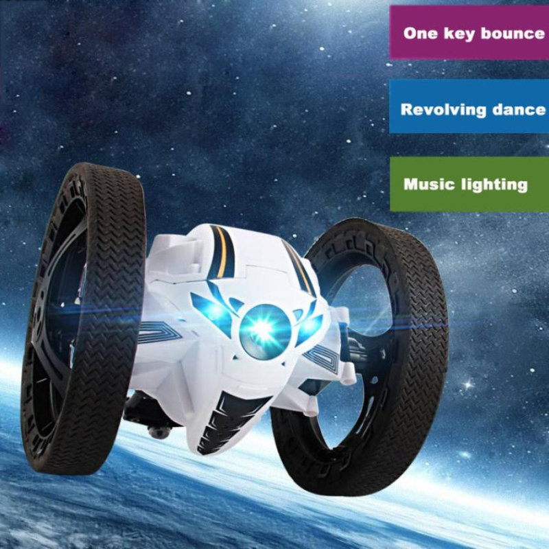 Фотография RC Bounce Car toy educational toy RH803 Mini Jumping sumo car Robot Jumping Car with  LED Night Light RC Robot Car kid best gift