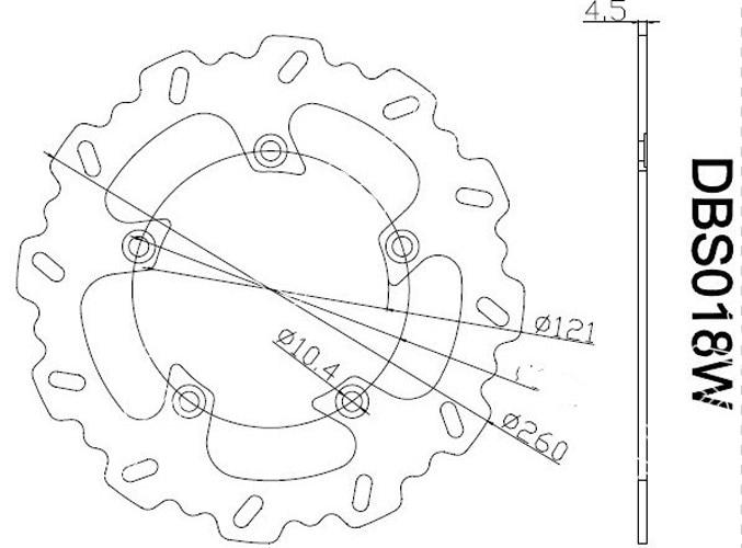 Areyourshop Motorbike Front Brake Disc Rotor For Suzuki Burgman 250