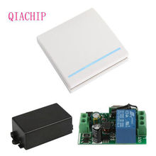 Universal 433 MHz  Wireless Remote Control Switch AC 110V 220V 1CH Relay Receiver Module & Wall Panel RF Remote Controls
