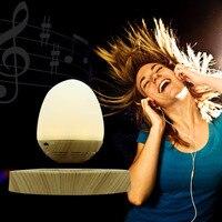 Magnetic Levitating Light Wireless Bluetooth Speaker Multi Functional Egg Shape USB Charging LED Night Light Innovative