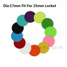 20pcs Colorful trendy Aromatherapy Felt Pads 17mm Fit for 25mm Essential Oil Diffuser Locket Floating Locket color randomly(China)