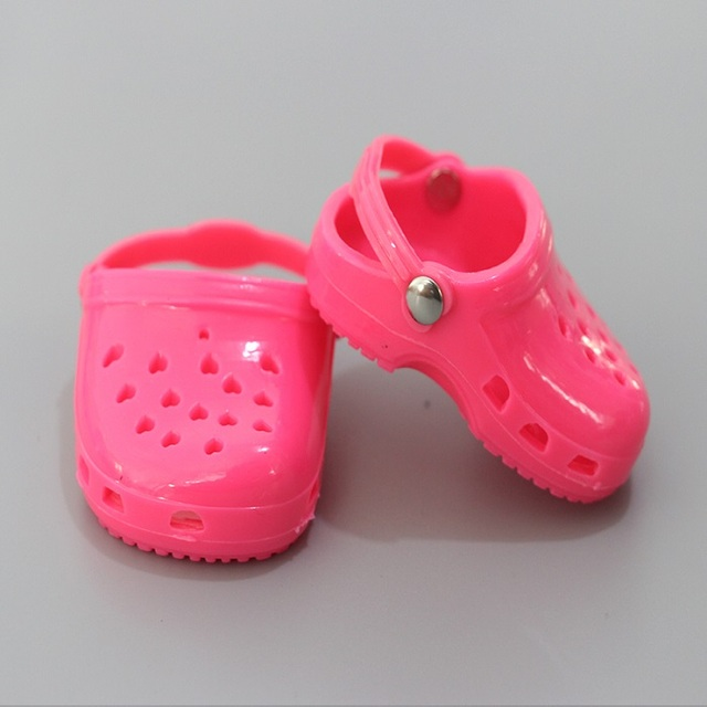 1 Pair 7cm Doll Cave Cave sandals Shoes Fits 18 inch Doll 43CM Born Shoes for American  Doll Accessories gift | american doll