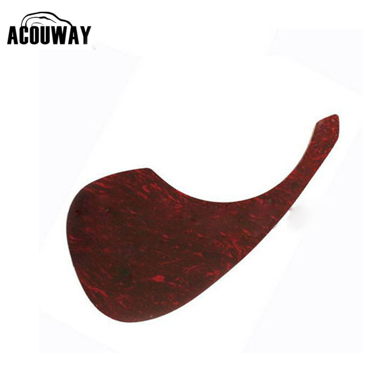 Acouway 40 41 42 inch Acoustic Guitar Pickguard Pick Guard Sticker R64mm Plastic Material Red Flame Color