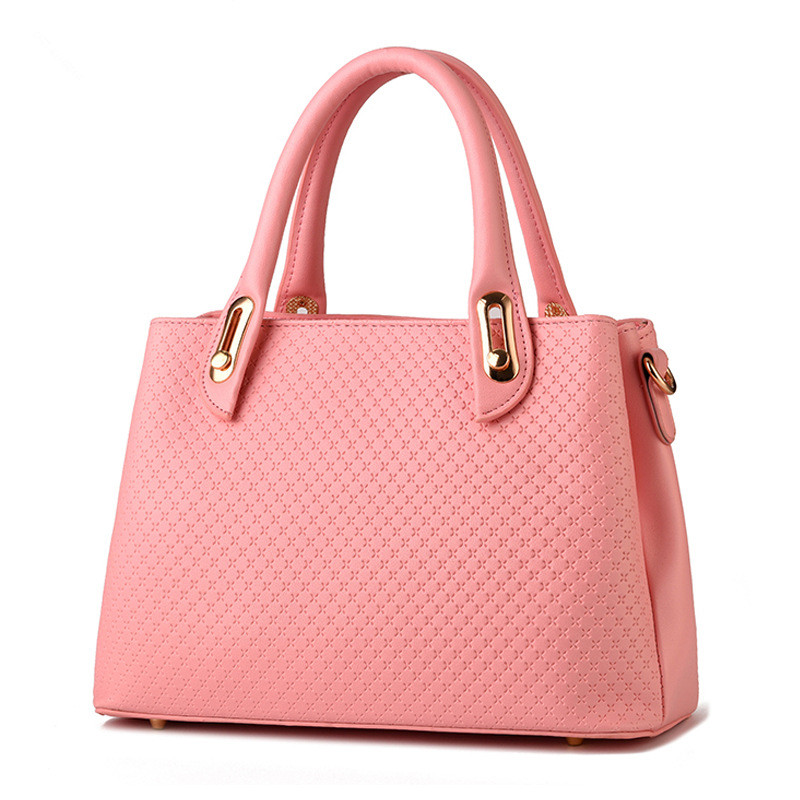 Elegant PU Office Lady Business Handbag Casual Clutch Fashion Women Shoulder Bag Zipper Pink elegant pu office lady business handbag casual clutch fashion women shoulder bag zipper pink