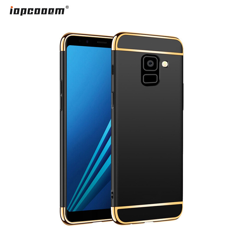 Phone Case For <font><b>Samsung</b></font> Galaxy A8 2018 <font><b>A530F</b></font> A530 Case Luxury 3 in 1 Hard PC Back <font><b>Cover</b></font> For <font><b>Samsung</b></font> A8 Plus 2018 A730F A730 Coque image
