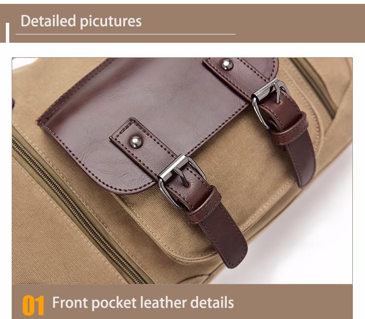 Famous Brand Men Vintage Canvas Men Travel Bags Women Weekend Carry On Luggage & Bags Leisure Duffle Bag Large Capacity Handbags (32)