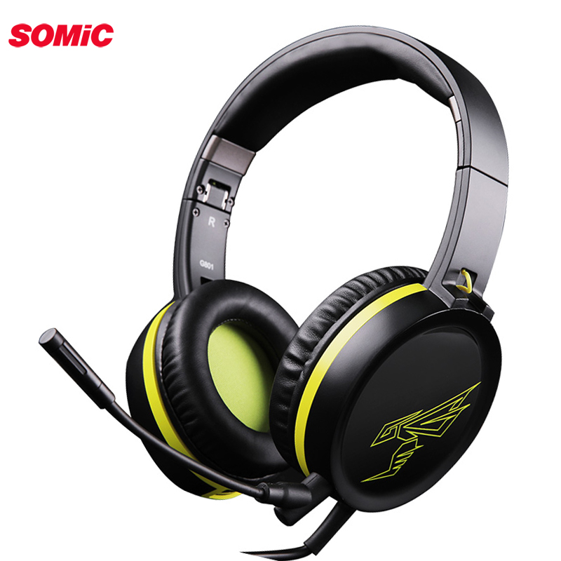 SOMiC G801 PS4 Gaming Headset Casque Wired PC 3.5mm Stereo Earphones Headphones With Microphone For Computer Laptop Tablet Gamer