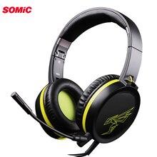 SOMiC G801 PS4 casque de jeu casque filaire PC 3.5mm stéréo écouteurs casque avec Microphone pour ordinateur portable tablette Gamer