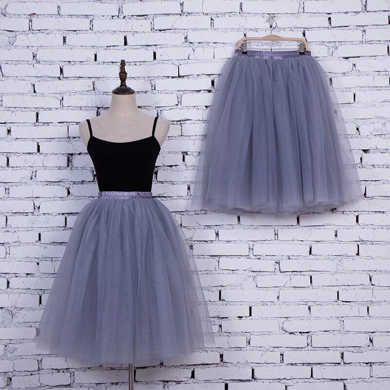 7 Layers High Waist Women Tulle Skirt American Apparel Tutu Skirts Womens Lolita Petticoat 2017 Summer Faldas Saia Jupe