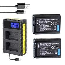 2X для sony NP-FW50 NP FW50 Камера Батарея + ЖК-дисплей Зарядное устройство для sony A6000 NEX-7 NEX 5N F3 NEX-3D NEX-3DW NEX-3K NEX-5C Alpha 7R II