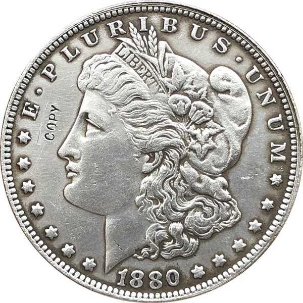 1880-O EUA Dólar Morgan moedas COPIAR
