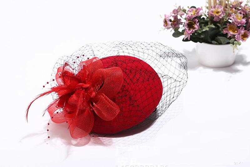 Elegante bruiloft hoeden en tovenaars vrouw Bruiloft hoeden voor - Bruiloft accessoires - Foto 4