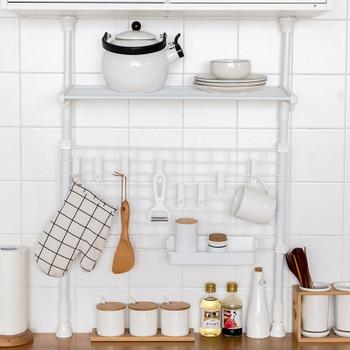 MoeTron Creative Kitchen Organizer Storage Rack Metal Shelf Bracket Wall Hooks Decorative Wall Shelf wall shelf for tea pots