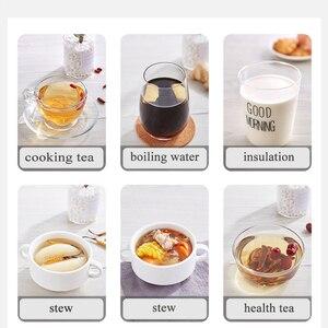 Image 5 - 600ML Mini Multi function Electric Kettle Health Preserving Pot Glass Boiled Tea Pot Hot Water bottle Warm Kettle 220V