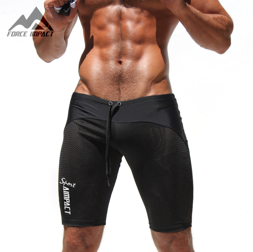 Classic Skinny Men's Tight Shorts Casual Leisure Fitness Men ...