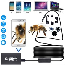 WIFI Endoscope Camera IP68 8mm lens HD1200P 1m 2m 5m 10m Soft Hard wire waterproof wireless borescope for PC Android IOS stardot 8mm lens wifi wireless endoscope inspection camera waterproof borescope for iphone ios windows android 1m 2m 3 5m cable