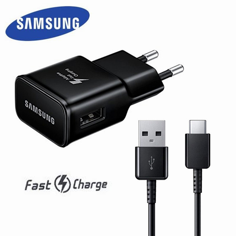 Original Samsung Adaptive Fast <font><b>Charger</b></font> USB Quick Charge Adapter TYPE C Cable For <font><b>Galaxy</b></font> S8 S9 s10 Plus s10e Note 8 9 A5 <font><b>A7</b></font> 2017 image