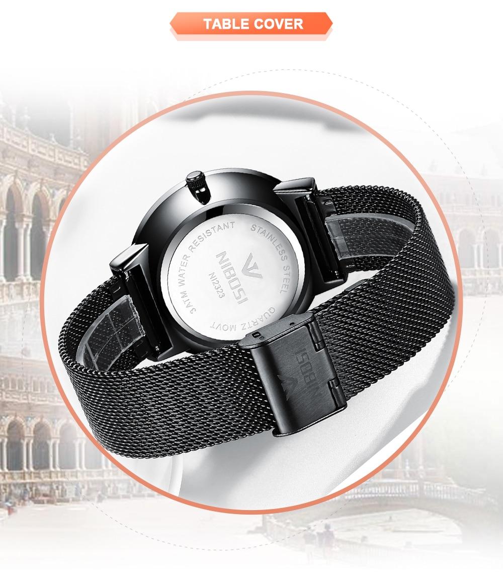 NIBOSI 2018 New Fashion Simple Watch Slim Mesh Band Mens Dress Watches Top Brand Luxury Male Relogio Masculino Quartz Wristwatch (6)