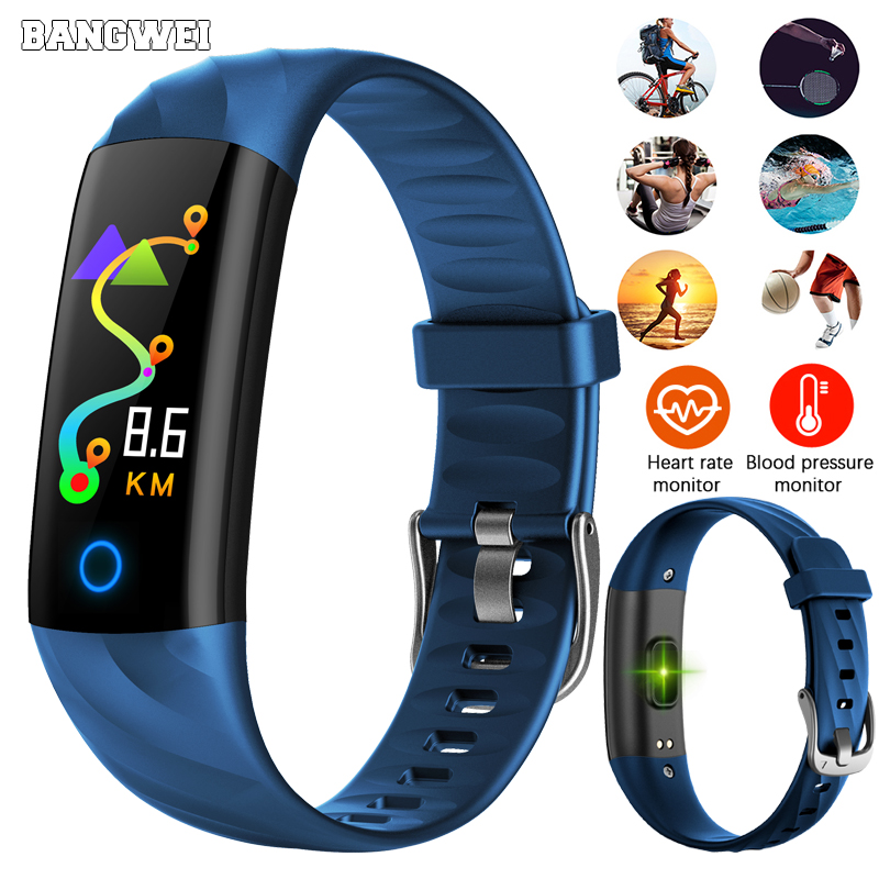 2018 LIGE Smart Bracelet Heart Rate Blood Pressure Oxygen monitor Sport Fitness Watch Waterproof Smart Wristband For IOS Android