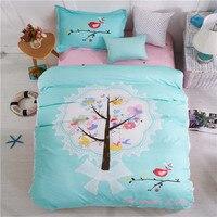 100% Cotton Cartoon Lucky Tree Bed Linen Single Twin Size 3d Quilt/Duvet Cover Set Kids Girl Baby Bedding Set Home Textile 3/4pc