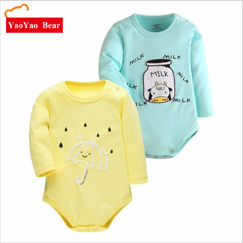 Bayi BODYSUIT 2 pcs Hadiah Set Anak-anak Musim Gugur Baru Lahir - Pakaian bayi